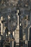 Graveyard with tombstones Stock Photography