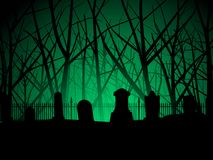 Graveyard and trees background Royalty Free Stock Image