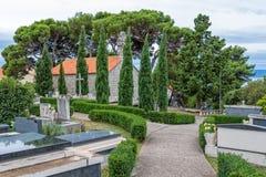 Graveyard in Tucepi Croatia Royalty Free Stock Photo