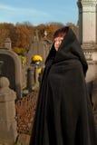 Graveyard visitor royalty free stock photos