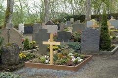 Graveyard in the Vulkan Eifel Stock Images