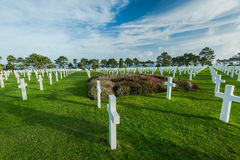 Graveyards of fallen soldiers in Normandy Royalty Free Stock Photo