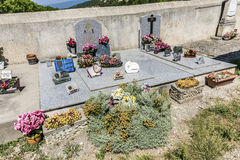 Graveyards at Saint Christol in Mirabeau Stock Image