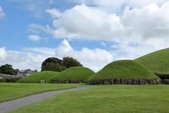 Gravhögar av Newgrange i nordligt - Irland Royaltyfri Fotografi