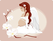 gravid ängel vektor illustrationer