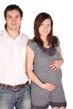 gravid barn för flickaman Arkivfoton