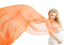 gravid blondin Royaltyfria Foton