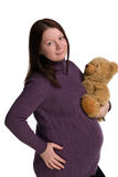 gravid flickastående Royaltyfria Bilder