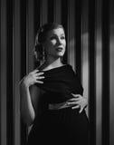 Gravid Hollywood kvinna arkivfoton