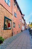 Gravid hus eller Das Schwangere Haus i Luneburg germany arkivbilder