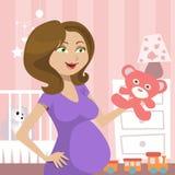 gravid kvinna Arkivfoton