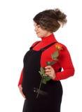 gravid kvinna royaltyfri fotografi