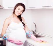 Gravid kvinna Arkivbilder