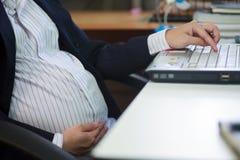 Gravid kvinna. Royaltyfria Bilder