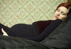 gravid kvinna Fotografering för Bildbyråer
