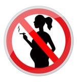 Gravid kvinna och cigarett vektor illustrationer