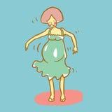 gravid kvinna också vektor för coreldrawillustration royaltyfri illustrationer