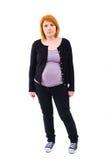 Gravid kvinnaanseende Royaltyfri Bild