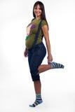 gravid kvinnabarn arkivfoton