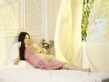 gravid kvinnabarn royaltyfria bilder