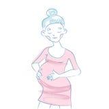 gravid kvinnabarn Fotografering för Bildbyråer