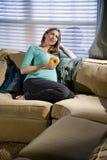 gravid längtande kvinna arkivfoton