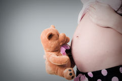 gravid lady Royaltyfri Bild