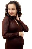 gravid le Arkivfoton