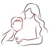 gravid moder stock illustrationer