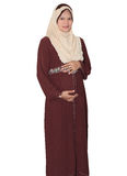 gravid muslimah Arkivfoto