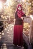 Gravid muslimsk kvinna Royaltyfria Bilder