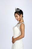 Gravid nätt kinesisk brud Arkivfoton