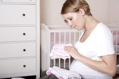 gravid nätt kvinna arkivfoto