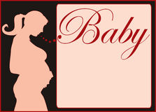 gravid silhouette Arkivfoto