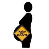 gravid silhouettekvinna Arkivbild