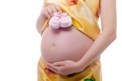 gravid studiokvinna Royaltyfria Foton