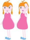 Gravid ung flickahuvudvärk Arkivfoto