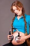 gravid woan Arkivfoto