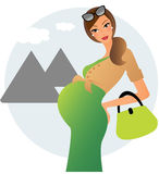 gravida egypt vektor illustrationer