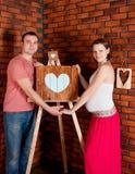 Gravida par för barn Royaltyfri Foto