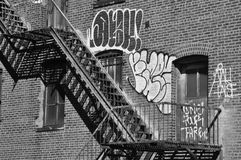 Gravidade de New York das escadas Imagem de Stock