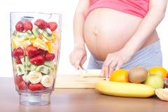 Gravidanza e nutrizione Fotografia Stock Libera da Diritti