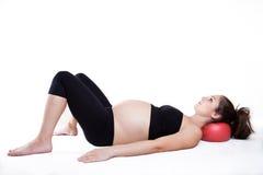 Gravidanza e yoga Immagini Stock Libere da Diritti
