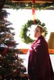 Gravidez 4 do Natal imagens de stock