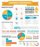 Gravidez infographic Fotos de Stock Royalty Free