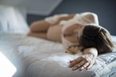A gravidez toma realmente um ped?gio em seus n?veis de energia imagem de stock