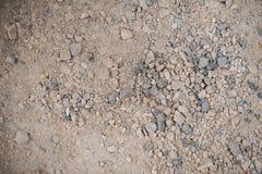 Gravier et sable de modèle de fond de cailloux, petit et grand Photographie stock libre de droits