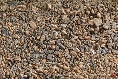 Gravier et sable de modèle de fond de cailloux, petit et grand Photo libre de droits