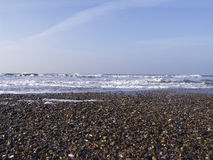 Gravier sur la plage Image libre de droits