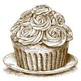 Gravieren des Kuchens auf weißem Hintergrund vektor abbildung